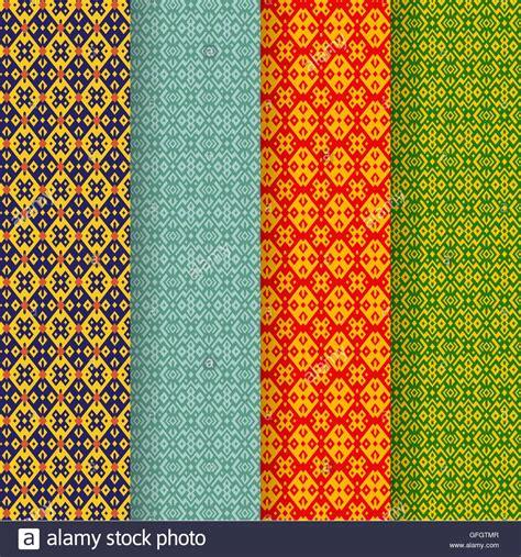 Set Of Batik set of batik seamless pattern in tribal asia style vector
