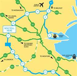toll road map the m50 toll road
