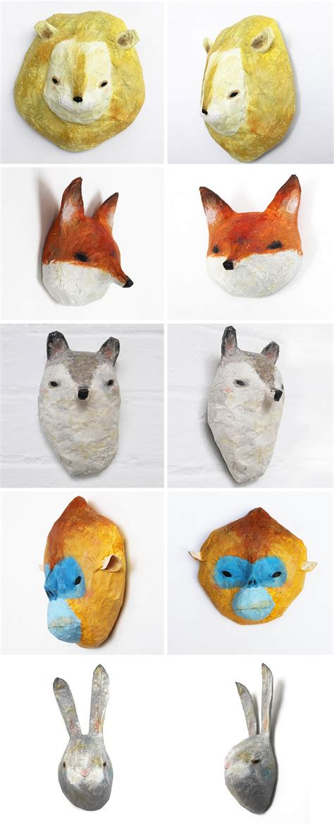 How To Make Paper Mache Animals - papier m 226 ch 233 animals by abigail brown is a way