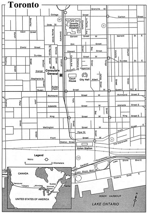 printable map toronto downtown large toronto maps for free download and print high
