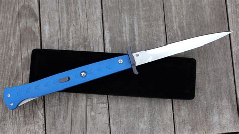 swing guard switchblade dynamic knife design dkd 11 quot special blue swing guard
