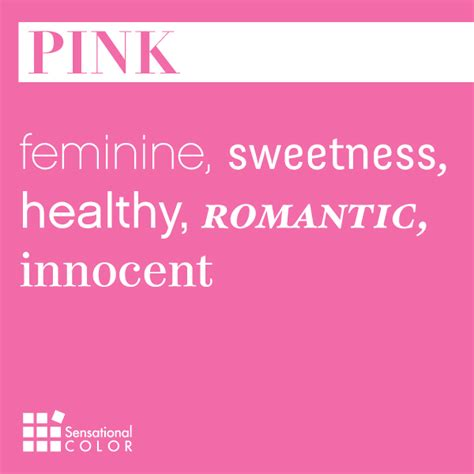 meaning of pink words that describe pink sensational color