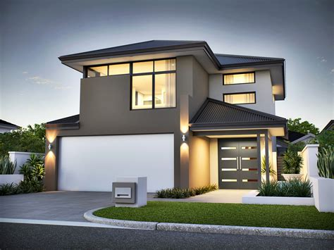 Two Storey Narrow Lot House Plans by 2 Story House Plans Modern Awesome Home Design Narrow Lot