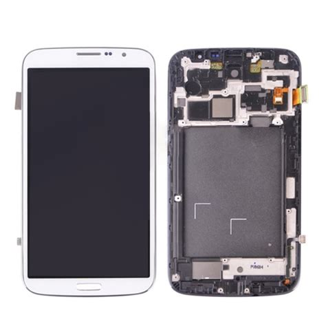 Lcd Galaxy Mega lcd display touch screen digitizer assembly with frame