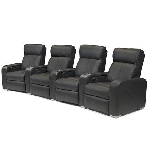 premiere home cinema seating 4 seater black cinema