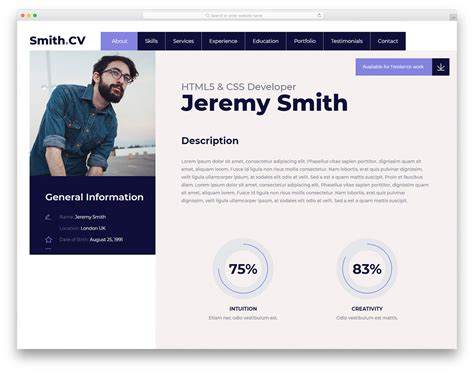 27 Free Bootstrap Resume Templates For Effective Job Hunting 2019 Bootstrap Resume Template