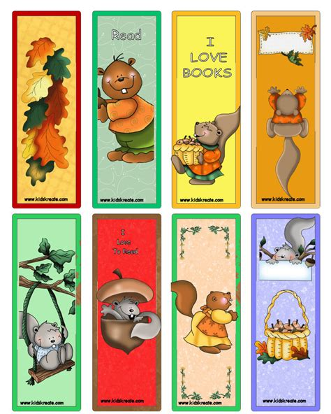 printable bookmarks to make thank you scering squirrels bookmarks kids can make