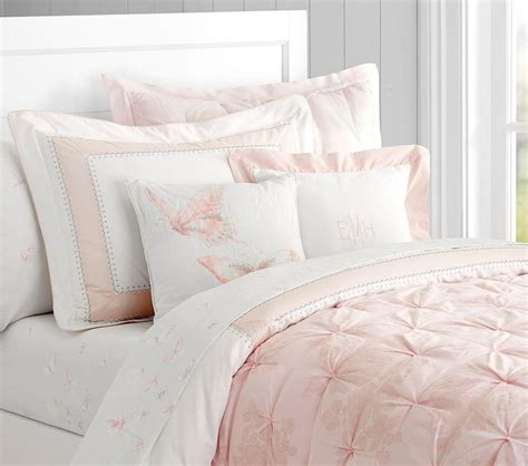 blush pink bedding monique lhuillier ethereal lace quilted bedding pottery