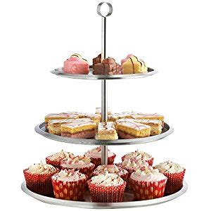 etagere muffins vonshef 3 tier cake stand stainless steel to display