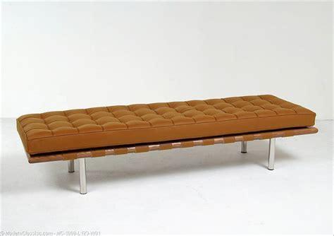 mies bench barcelona 3 seat bench autumn tan leather mies van der