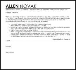 Job Cover Letter Sample payment arrangement agreement letter agreement letters