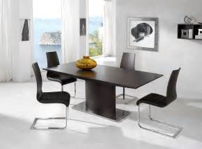 Dining Room Furniture Contemporary Exotic Luxury Brown Top Leather Contemporary Dinette Set