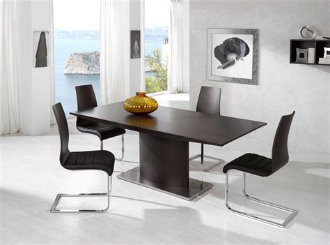 Exotic Luxury Brown Top Leather Contemporary Dinette Set Modern Contemporary Dining Room Sets