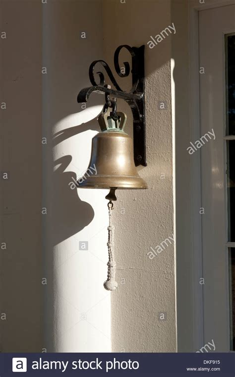 Front Door Bell Traditional Hanging Brass Front Door Bell In Sun Light