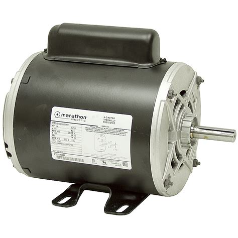 3 4 hp 3450 rpm 115 vac air compressor motor ac motors base mount ac motors electrical