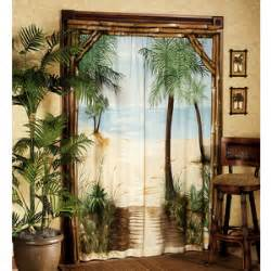 Palm Tree Home Decor by Seashell Beaded Curtains Curtains Amp Blinds