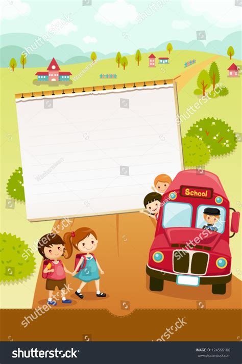 Find I Went To School With Go To School School Stock Vector Illustration 124566106