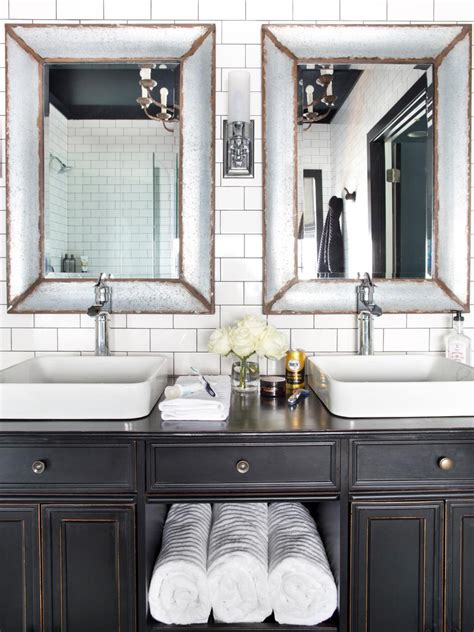 Bathroom Makeover Sweepstakes by Timeless Black And White Master Bathroom Makeover Hgtv