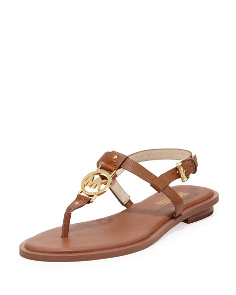 michael kors sandal michael michael kors logo sandal in brown luggage