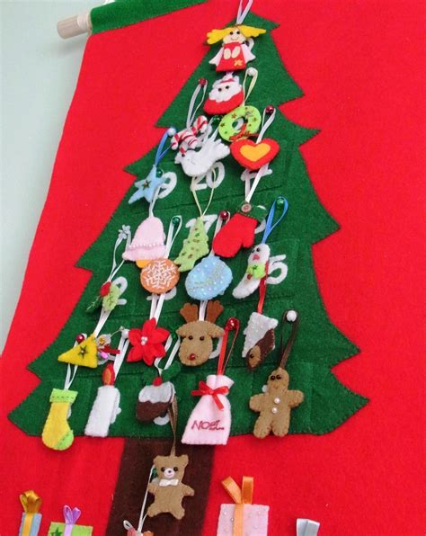 pattern for christmas tree advent calendar felt christmas advent calendar no 18 pdf pattern felt