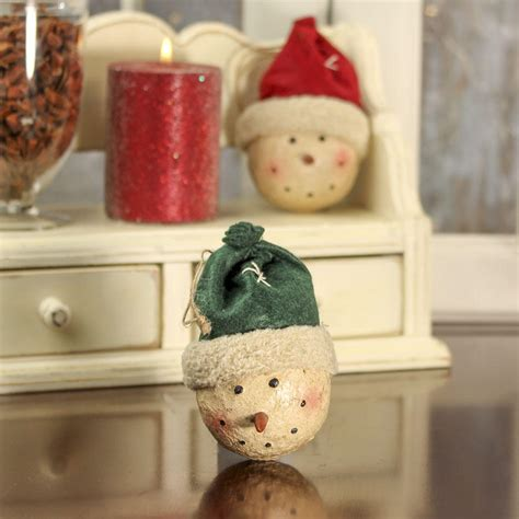 paper clay ornaments primitive paper clay snowman ornament ornaments and winter crafts