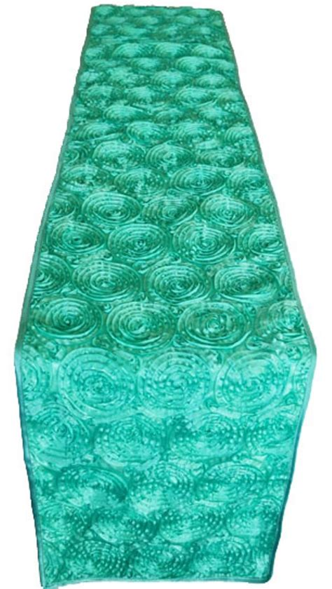 aqua blue table runner blue aqua rosette satin table runners