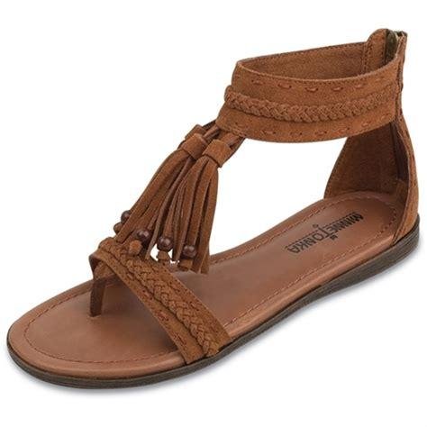 minnetonka sandal minnetonka sandals brown suede belize sandal leather