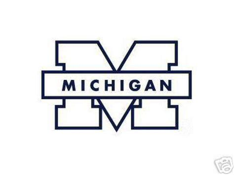U Of M Coloring Pages michigan wolverines car window sticker decal ebay