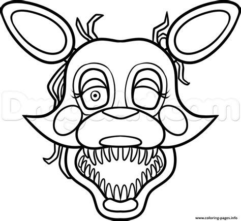 Fnaf 2 Coloring Pages by Mangle From Five Nights At Freddys 2 Fnaf Coloring Pages