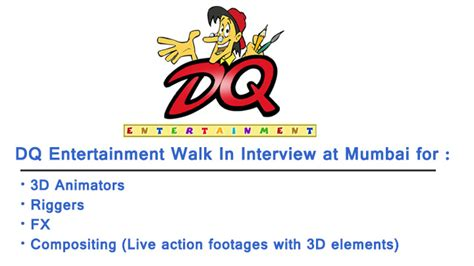 adobe premiere pro jobs in hyderabad dq entertainment is hiring walk in interview in mumbai