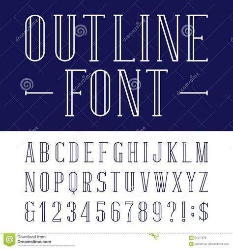 decorative symbol font download decorative outline alphabet vector font stock vector