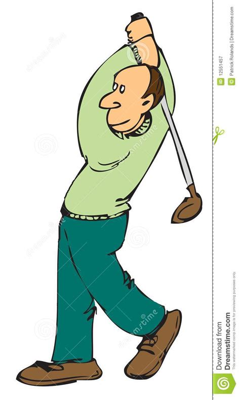 cartoon golf swing cartoon golfer royalty free stock photography image