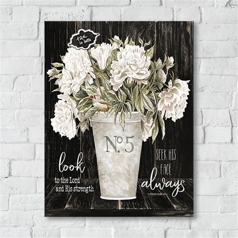 french country  vase floral canvas art