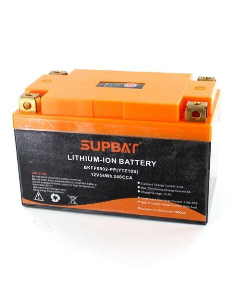 alimentatore batteria moto batterie moto li ion 12v 54wh type ytz10s