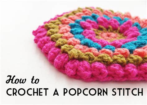 how to knit the popcorn stitch crochet popcorn stitch creatys for