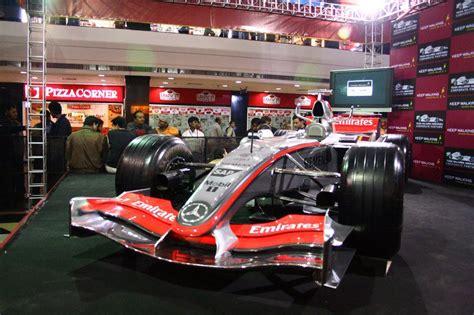 mclaren f1 f1 car in noida team bhp