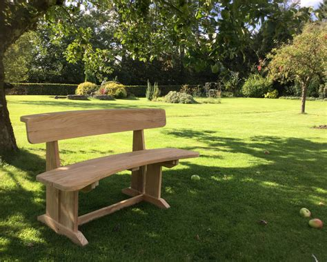 curved teak benches for gardens teak curved garden bench by blackdown lifestyle