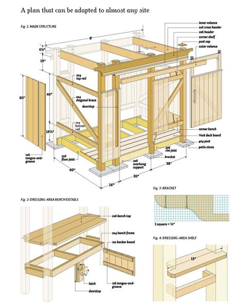 outdoor shower wood plans diy   outdoor wood projects wood plans easy