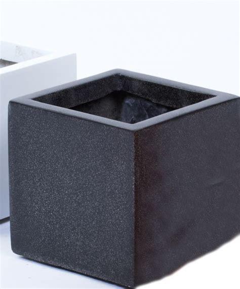 fibreglass black granite planter just artificial