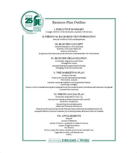 printable business plan exles business plan outline template 22 free sle exle