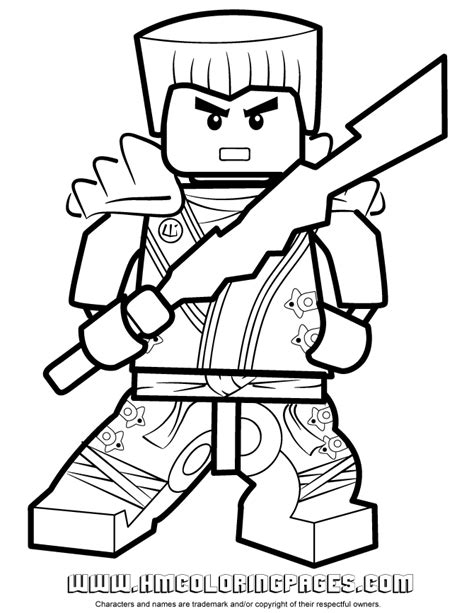 Zane Ninjago Coloring Pages ninjago zane kx holding elemental weapon coloring page h m coloring pages