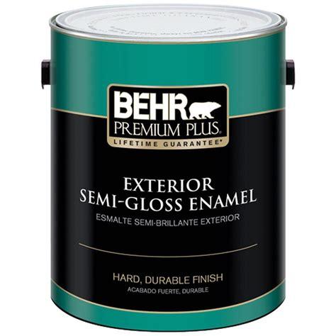 exterior paint home depot behr premium plus 1 gal ultra white semi gloss