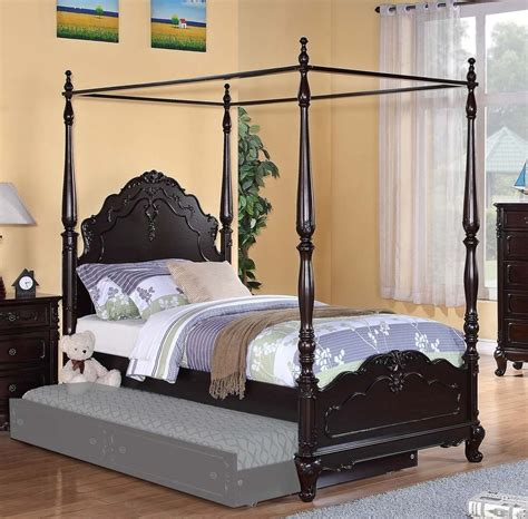 canopy bedroom sets for girls dreamy dark cherry finish full girls poster canopy bed