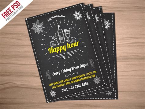 Freebie Happy Hour Party Invitation Flyer Free Psd By Psd Freebies Dribbble Dribbble Happy Hour Flyer Template Free