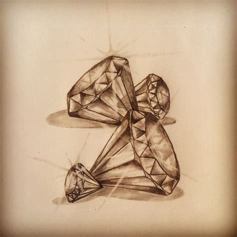 diamond tattoo shading diamonds tattoo sketch by ranz pinterest follow me
