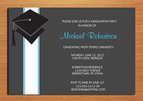 graduation party invitation wording theruntime com