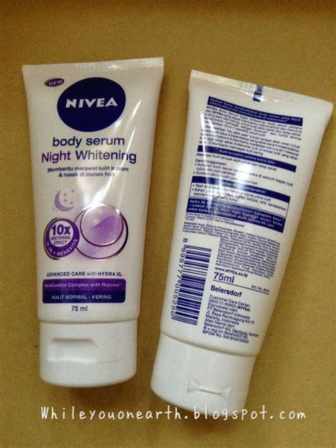 Pelembab Nivea while you on earth nivea quot all day all quot serum whitening