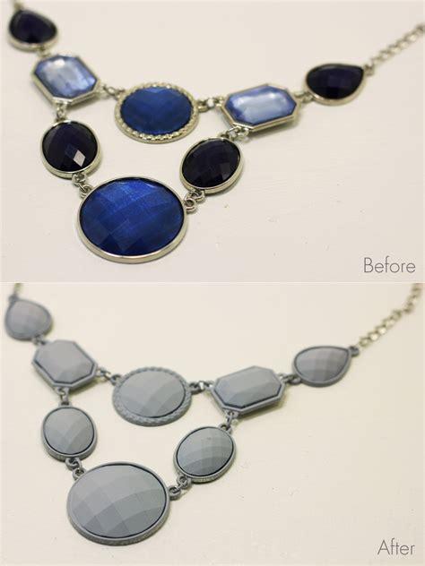 spray paint jewelry diy diy painted rhinestone necklace homemadebanana