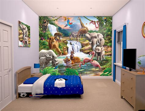 rainforest bedroom rainforest bedroom forest bedroom wallpaper jungle animal adventure bedroom mural walltastic