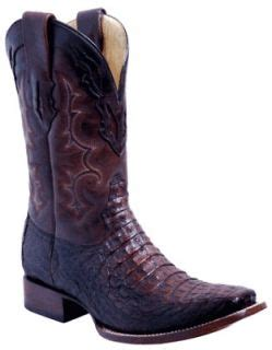 Corral Patchwork Boots - corral mens genuine caiman patchwork inlay cowboy western